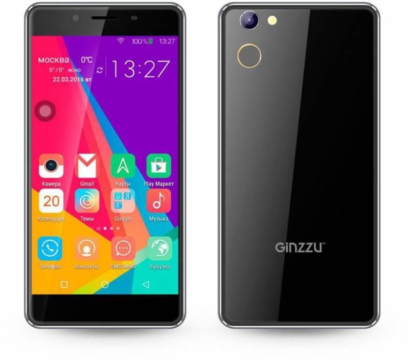 Смартфон Ginzzu S5140 16ГБ черный - фото 1