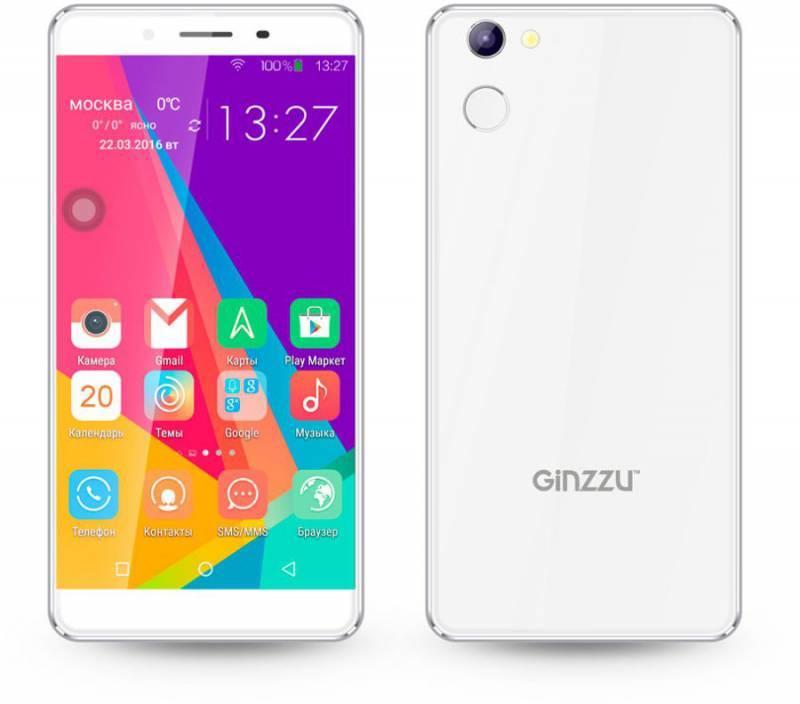 Смартфон Ginzzu S5140 16ГБ белый - фото 1