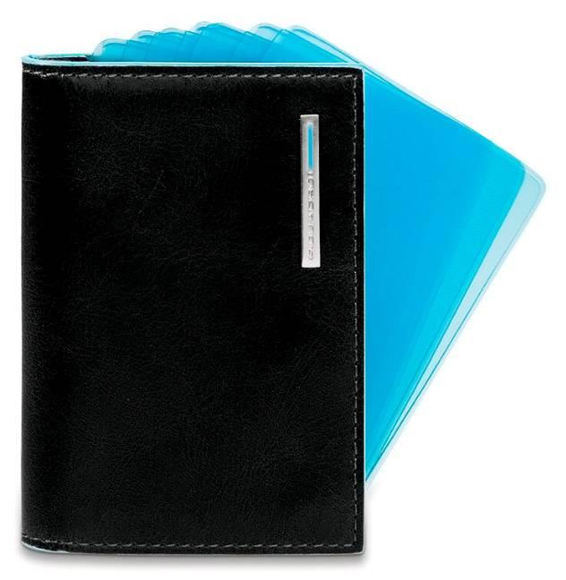 Чехол для кредитных карт Piquadro Blue Square PP1661B2/N черный натур.кожа - фото 1