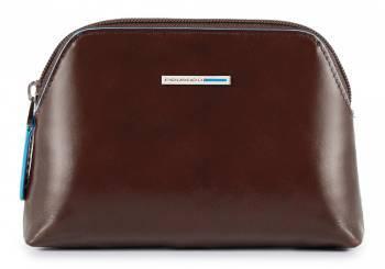 Косметичка Piquadro Blue Square коричневый, кожа натуральная (BY3793B2/MO)