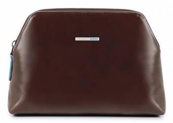 Косметичка Piquadro Blue Square коричневый, кожа натуральная (BY3795B2/MO)