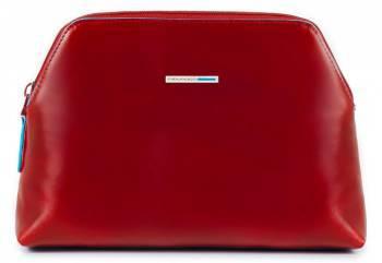 Косметичка Piquadro Blue Square красный, кожа натуральная (BY3795B2/R)