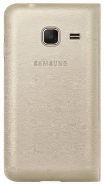 Чехол Samsung Flip Cover, для Samsung Galaxy J1 mini, золотистый (EF-FJ105PFEGRU)
