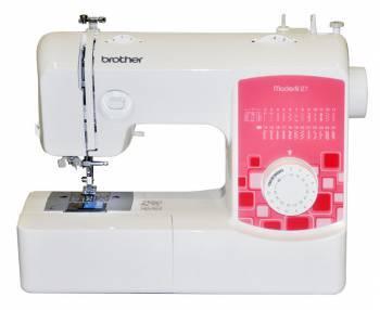 Швейная машина Brother ModerN 27 белый, электромеханическая, челнок классический (вертикальный качающийся), полуавтоматическое выполнение петель