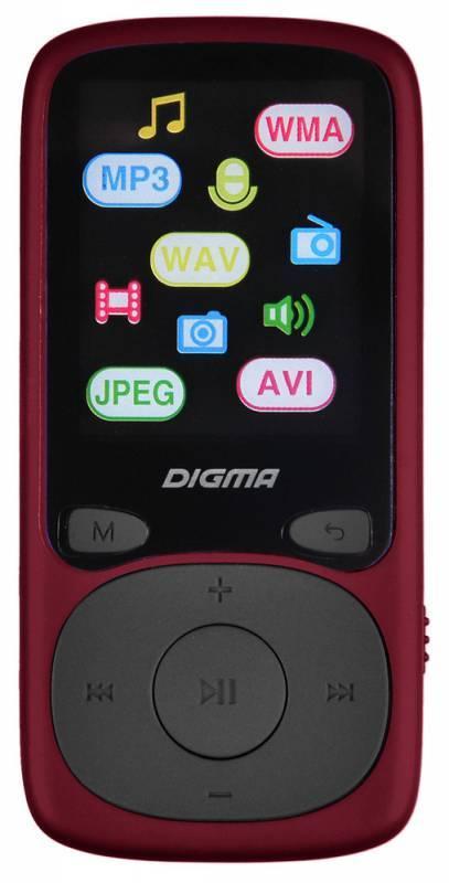Плеер Digma B3 8ГБ красный - фото 1