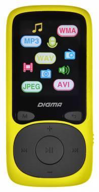 mp3-плеер 8Gb Digma B3 желтый