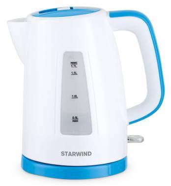Чайник электрический Starwind SKP3541 белый / голубой