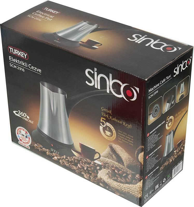 Кофеварка Электрическая турка Sinbo SCM 2916 черный - фото 6