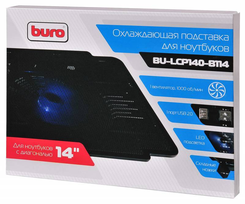 "Подставка для ноутбука 14"" Buro BU-LCP140-B114 черный - фото 6"