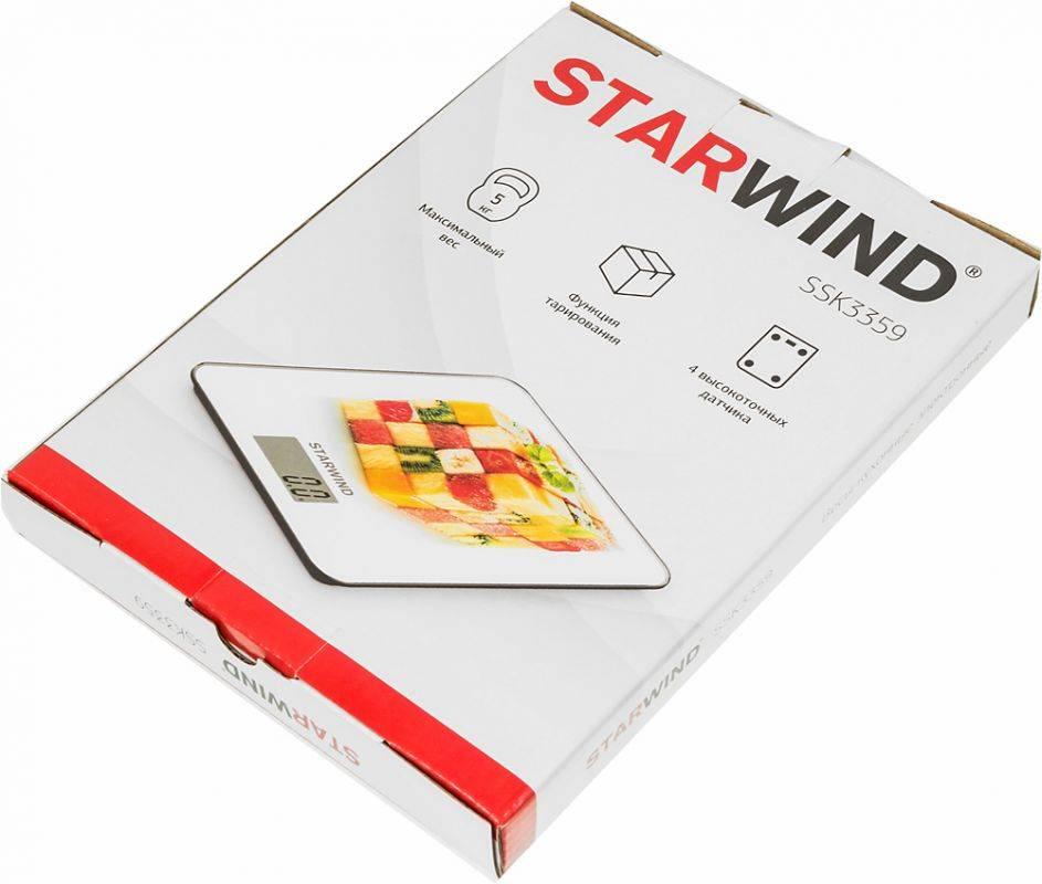 Кухонные весы Starwind SSK3359 - фото 6