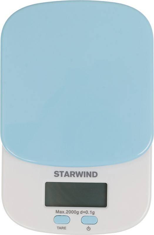 Кухонные весы Starwind SSK2156 голубой - фото 2