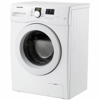 Стиральная машина Samsung WF60F1R0F2W, белый корпус, белый люк, фронтальная загрузка до 6кг, максимальная скорость отжима 1200об/мин