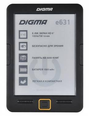 Электронная книга 6 Digma E631 черный