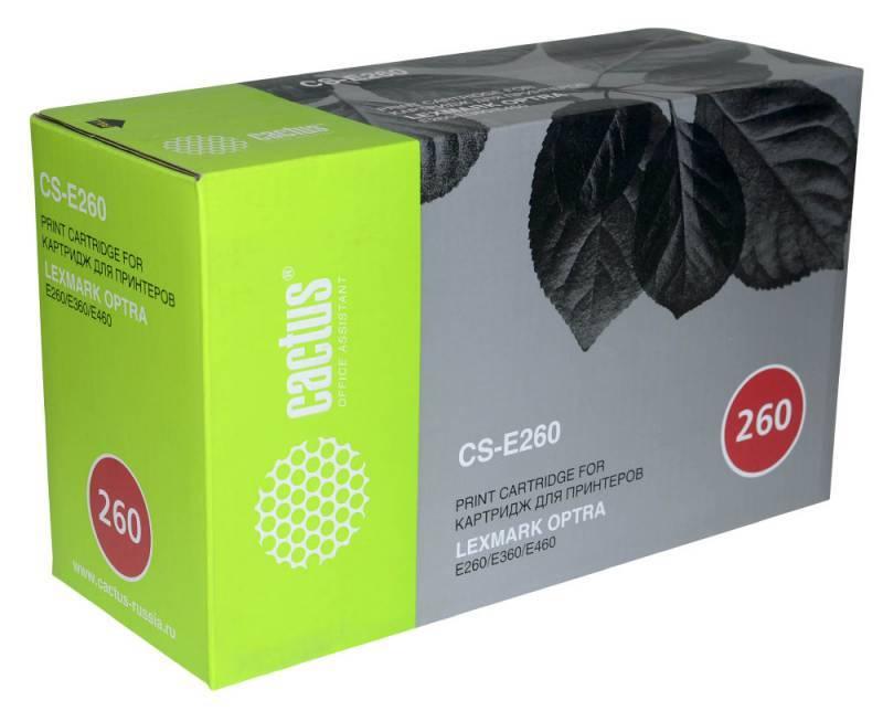 Тонер Картридж Cactus CS-E260 E260A21E черный - фото 1
