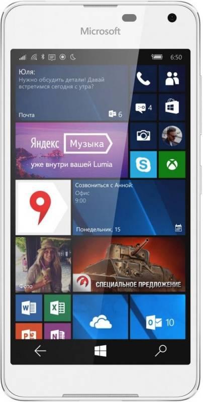 Смартфон Microsoft Lumia 650 Dual Sim 16ГБ белый - фото 2