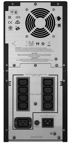 ИБП APC Smart-UPS C SMC3000I-W3Y черный - фото 4