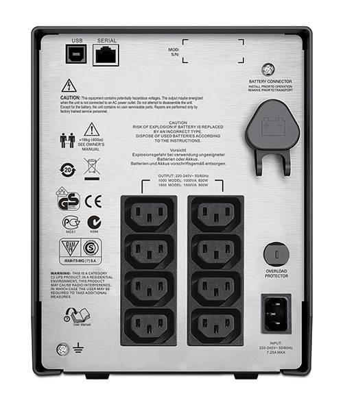 ИБП APC Smart-UPS C SMC1000I-W5Y черный - фото 4