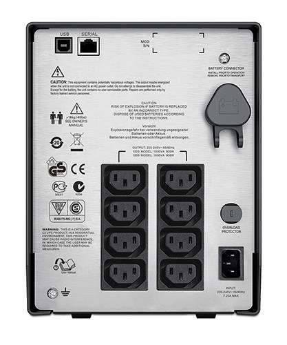 ИБП APC Smart-UPS C SMC1500I-W5Y черный - фото 4
