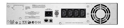 ИБП APC Smart-UPS C SMC1500I-2U-W5Y черный - фото 4