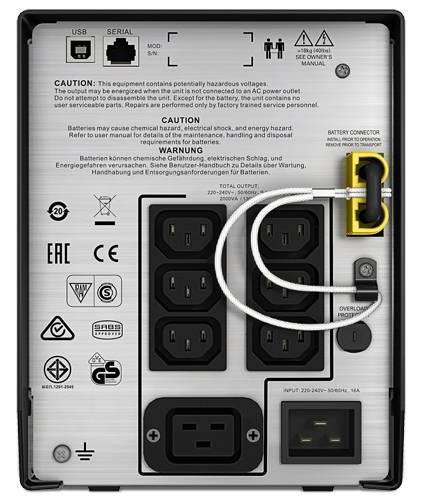 ИБП APC Smart-UPS C SMC2000I-W5Y черный - фото 4