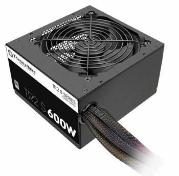 Блок питания Thermaltake ATX 600W TR2 S TRS-600AH2NK 80+ (24+4+4pin) APFC 120mm fan 5xSATA RTL