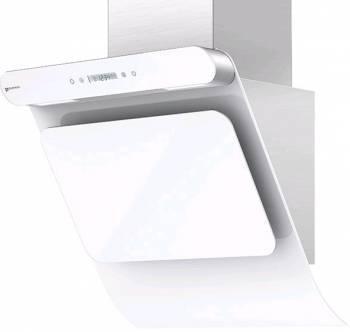 Каминная вытяжка Shindo Arktur 60 W/WG 3ETC нержавеющая сталь/белое стекло (4897039090739)