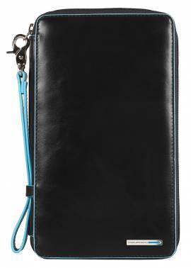 Мультипортмоне Piquadro Blue Square черный, кожа натуральная (PP3246B2/N)