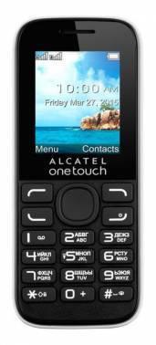 Мобильный телефон Alcatel 1052D белый/черный (1052D-3BALRU1)