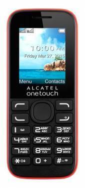 Мобильный телефон Alcatel 1052D красный/черный (1052D-3CALRU1)