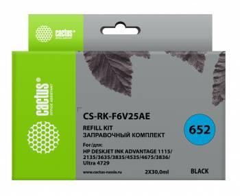 Заправочный набор Cactus CS-RK-F6V25AE черный 60мл