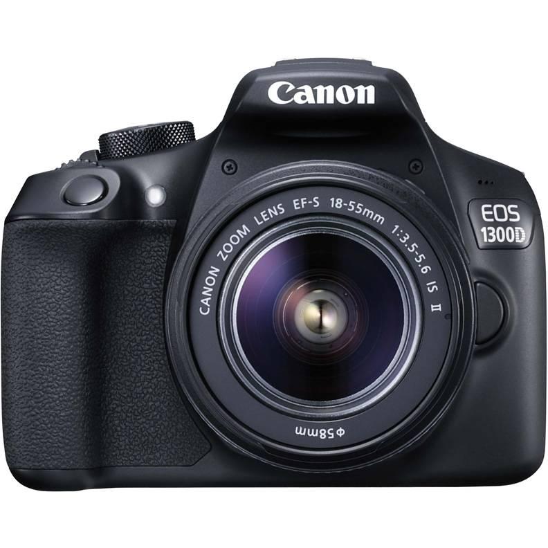Фотоаппарат Canon EOS 1300D KIT черный, 1 объектив 18-55mm f/3.5-5.6 IS II - фото 1
