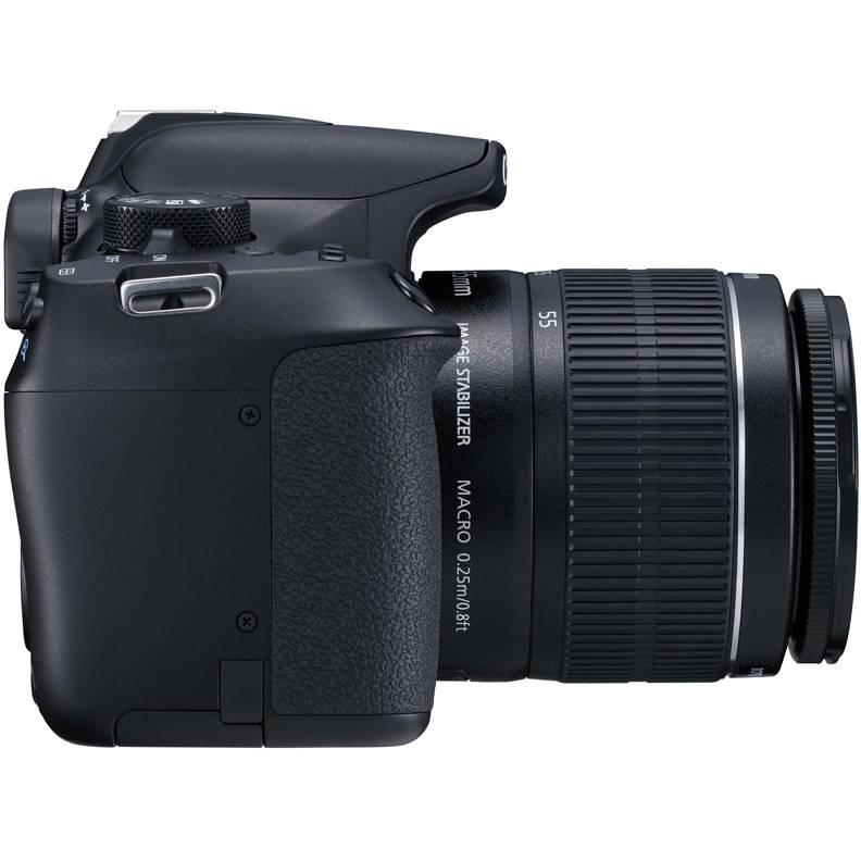 Фотоаппарат Canon EOS 1300D KIT черный, 1 объектив 18-55mm f/3.5-5.6 IS II - фото 3