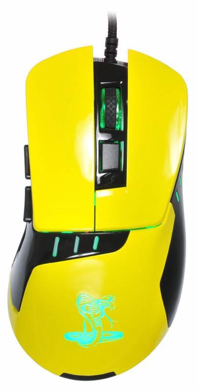 Мышь Oklick 865G Snake черный/желтый (GM-26 YELLOW) - фото 1