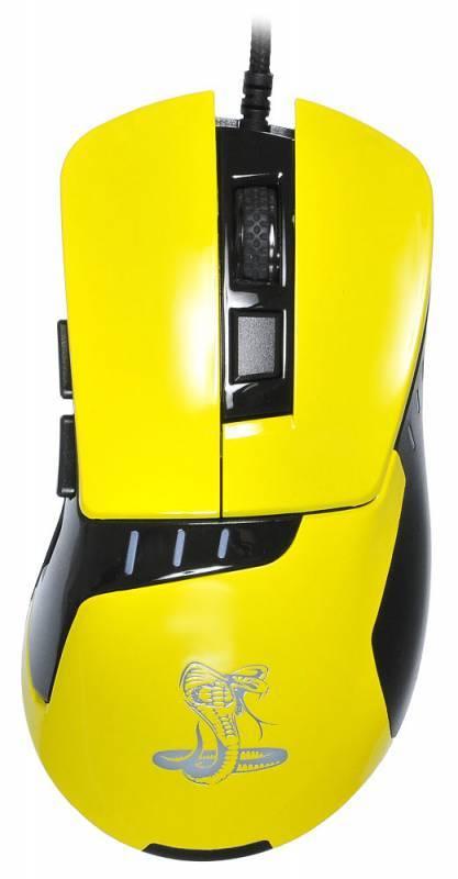 Мышь Oklick 865G Snake черный/желтый (GM-26 YELLOW) - фото 2