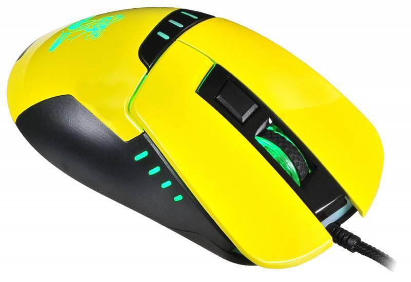 Мышь Oklick 865G Snake черный/желтый (GM-26 YELLOW) - фото 4