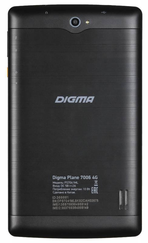 "Планшет 7"" Digma Plane 7006 4G 8ГБ черный (PS7041ML / PS7041PL) - фото 3"