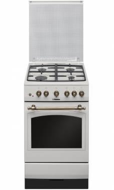 Плита газовая Hansa FCGY52109 слоновая кость, отдельностоящая, газовых конфорок 4, духовка: газовая, объем духовки 58л