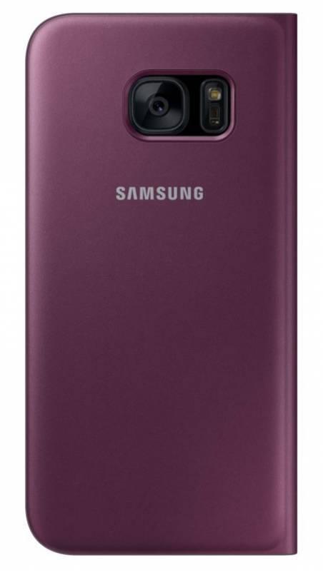 Чехол Samsung S View Cover, для Samsung Galaxy S7, бордовый (EF-CG930PXEGRU) - фото 2