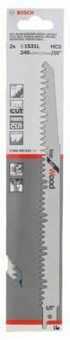 Набор пилок по дереву Bosch S 1531 L, 2 предм. (2608650613)