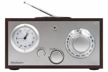 Радиобудильник Rolsen RFM-200 венге/серебристый (1-RLDB-RFM-200)