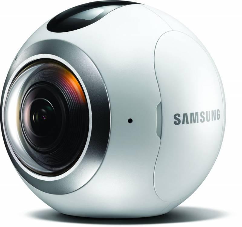 Камера Samsung Gear 360 SM-C200N белый (SM-C200NZWASER) - фото 1