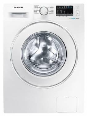 Стиральная машина Samsung WW60J4260JW, белый корпус, белый люк, фронтальная загрузка до 6кг, максимальная скорость отжима 1200об/мин