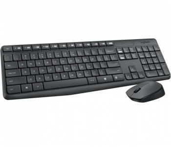 Комплект клавиатура+мышь Logitech MK235 серый / серый