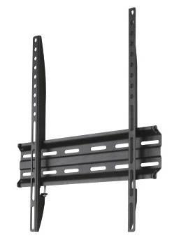 Кронштейн для телевизора Hama H-118104 черный, рекомендуемая диагональ 32-65, максимальная нагрузка 35кг, настенный, фиксированный