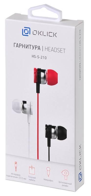 Гарнитура Oklick HS-S-210 красный - фото 5