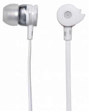 Наушники Oklick HP-S-210 белый, вкладыши, крепление в ушной раковине, проводные, прямой коннектор, кабель 1.2м