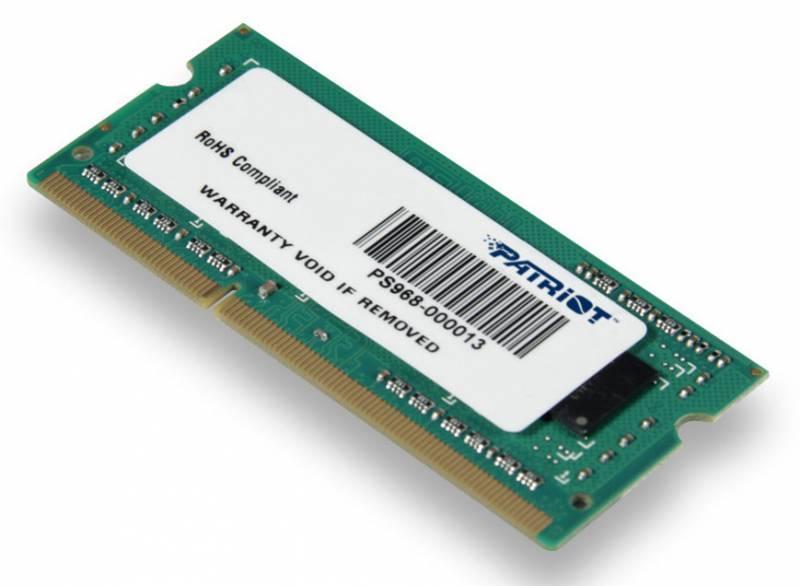 Модуль памяти SO-DIMM DDR3 2Gb Patriot PSD32G1600L81S - фото 1