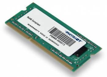 Модуль памяти Patriot PSD34G133381S, объем 1 х 4Gb, форм-фактор SO-DIMM 204-pin, тип памяти DDR3, рабочая частота 1333MHz, тайминги 9-9-9, unbuffered