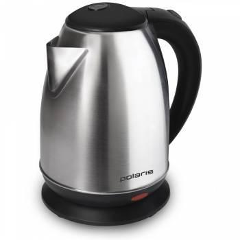 Чайник электрический Polaris PWK 1745CA серебристый матовый/черный