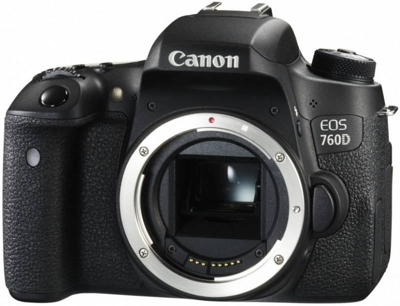 Фотоаппарат Canon EOS 760D черный, Body - фото 1